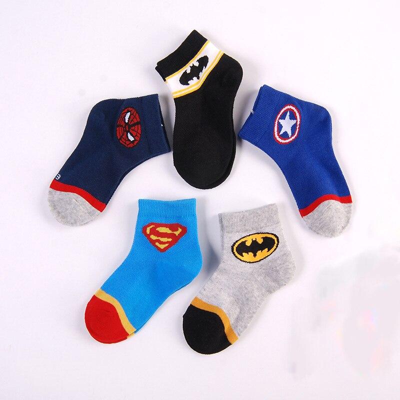 2 To 8 Years Kids Cotton Socks Spring/Summer  Boys Breathable Mesh Short Socks Children Soft Socks Girls Baby Cartoon Socks