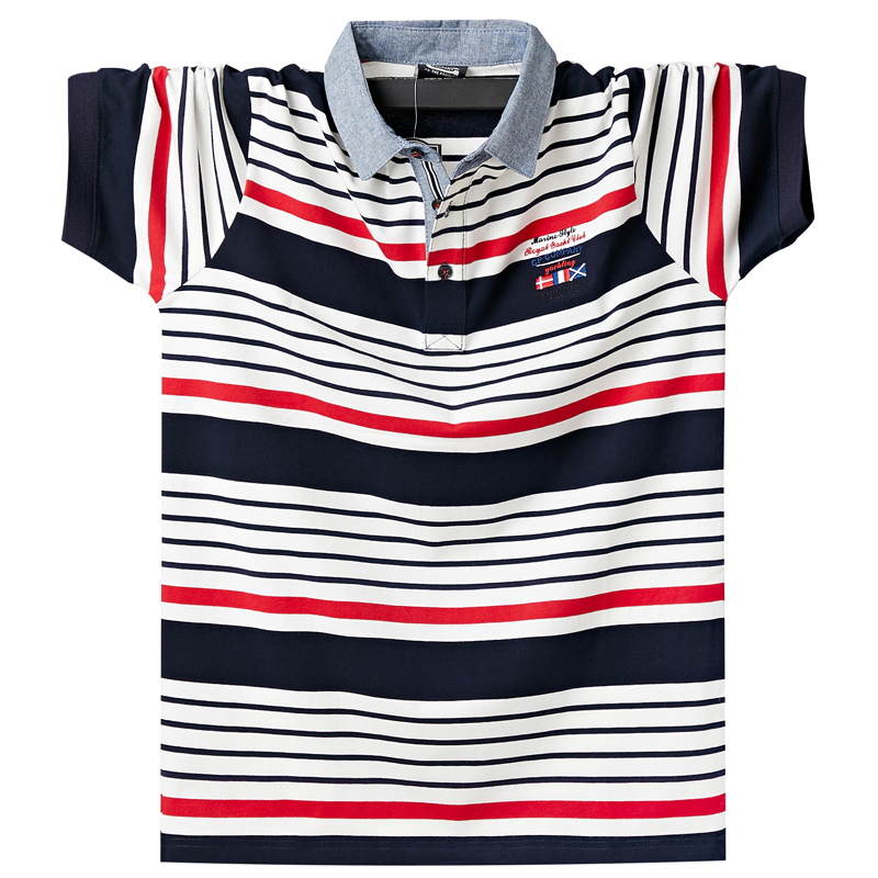 New 2020 Fashion Striped Mens Polo Shirts Comfortable Summer Short-sleeve Business Embroidery Polo Shirts Casual Men Clothes 6XL