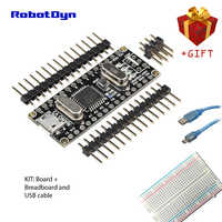 Nano v3 atmega328/ch340g, micro usb, cabeçalhos de pinos não soldados. Compatível para arduino nano v3.0