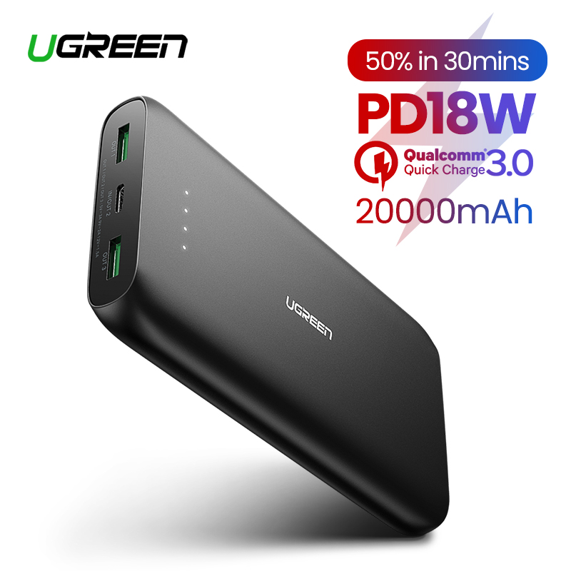 Ugreen Power Bank 20000mAh Portable Charging External Poverbank for iPhone 11 8  Mobile Phone Battery Charger Powerbank 20000mAh usb battery bank charger