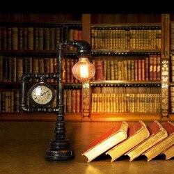 Amerykański styl tabeli lampy antyczne dom wiejski stół obiadowy kuchenny światła kryty robot domu lampy rury|Lampy stołowe LED|   -