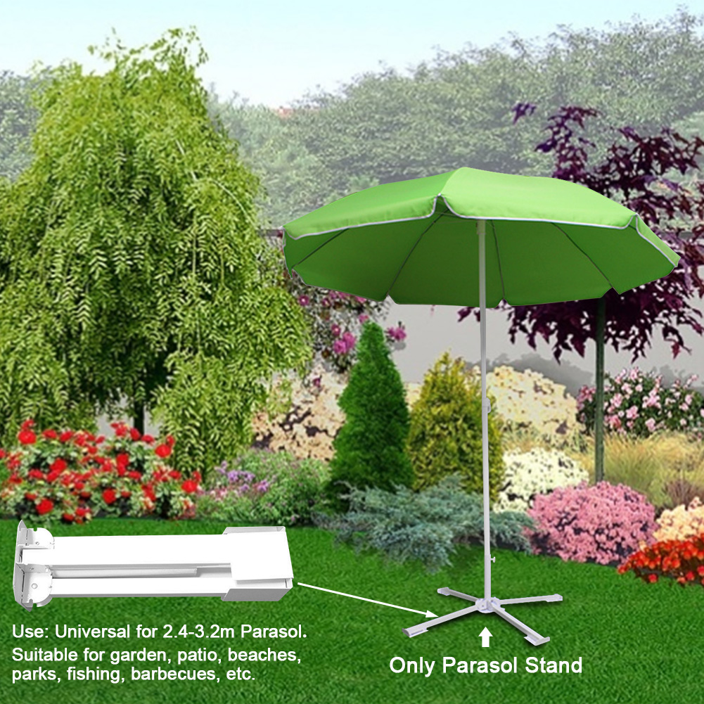 Umbrella Base Fishing Parasol Stand Portable Steel Courtyard Foldable Outdoor Garden Patio Stable Beach Easy Install Sun Shade