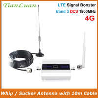 Amplificador do telefone celular do repetidor do sinal do impulsionador 4g 1800 mhz do sinal do telefone celular de tianluan 2g dcs 1800 mhz com chicote/antena do otário