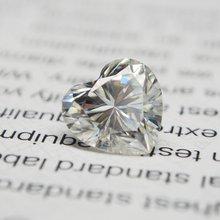 Камень Муассанит в форме сердца размер: 65*65 мм бриллиант 08