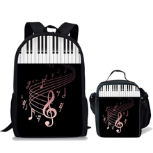 NOISYDESIGNS Music Note Pattern Kids Backpack School Bags Girls Boys Teenager Backpacks Children Satchel Piano Printed