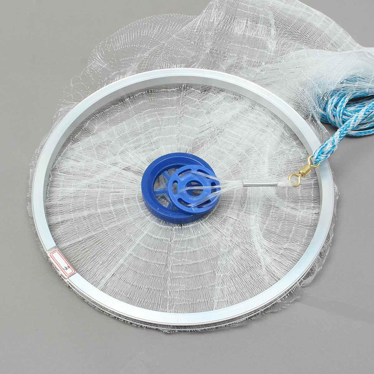8ft rede pesca peixe fundido 04
