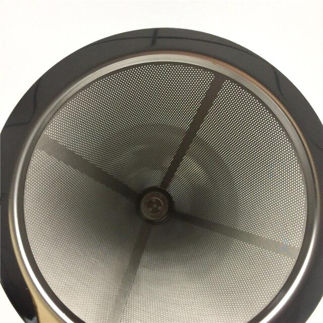 Reusable Coffee Filter Holder Stainless Steel Brew Drip Coffee Filters Funnel Metal Mesh Coffee Tea Filter Basket Tools 4