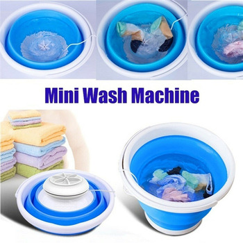 Ultrasonic Mini Washing Machine Portable Turbo Automatic Electric Roller Washing Machine Foldable USB Home Travel Clean Tool innovative mini ultrasonic washing machine travel portable usb electric small washing machine students household cleaning