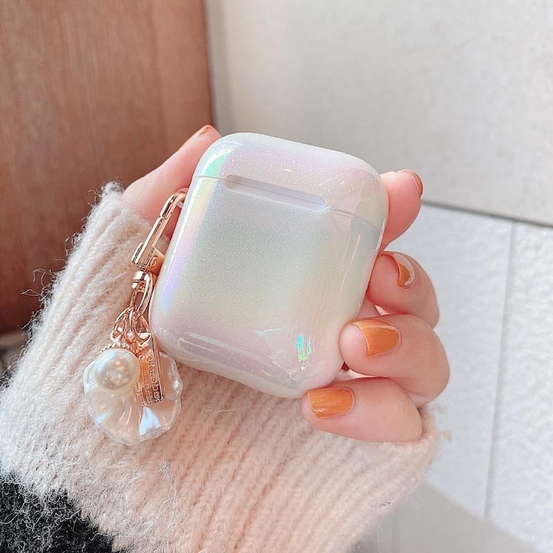 Чехол для наушников 3d love pearl shell keychain Жесткий с каплями