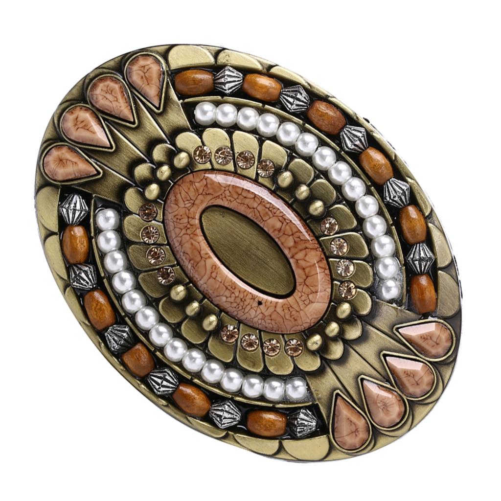 Men's Western Vintage Bohemian Boho Alloy Rodeo Belt Buckle Novelty Jewelry