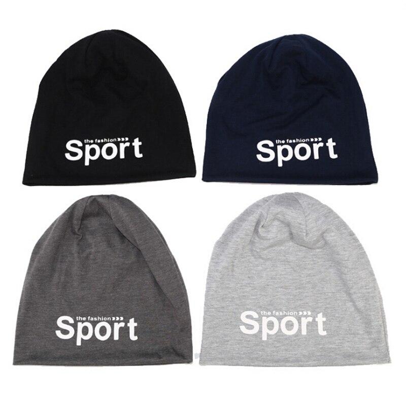 Sport Print Hat Winter Warm Cap Men Women Running Black White Soft Fishing Snowboard Hiking Cycling Windproof Outdoor Cap