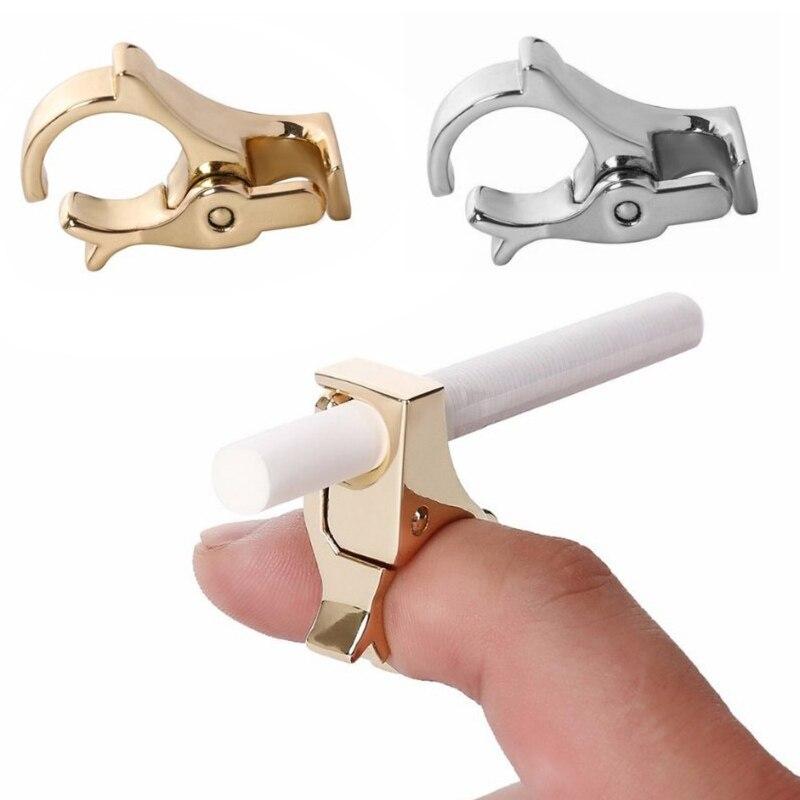 Creative Design Zinc Alloy Cigarette Holder Cigarette Tobacco Finger Ring Hand Rack Smoking Clip Smoking Accessories