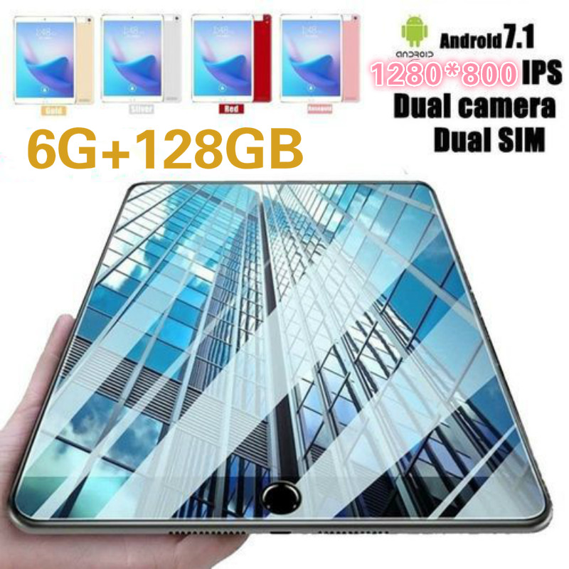 2020 New 10.1 Inch Android 8.0 10 Core 6G+128GB WiFi Tablet Pc Built-in 4G Phone Call Dual SIM Card WiFi Bluetooth  Tablets