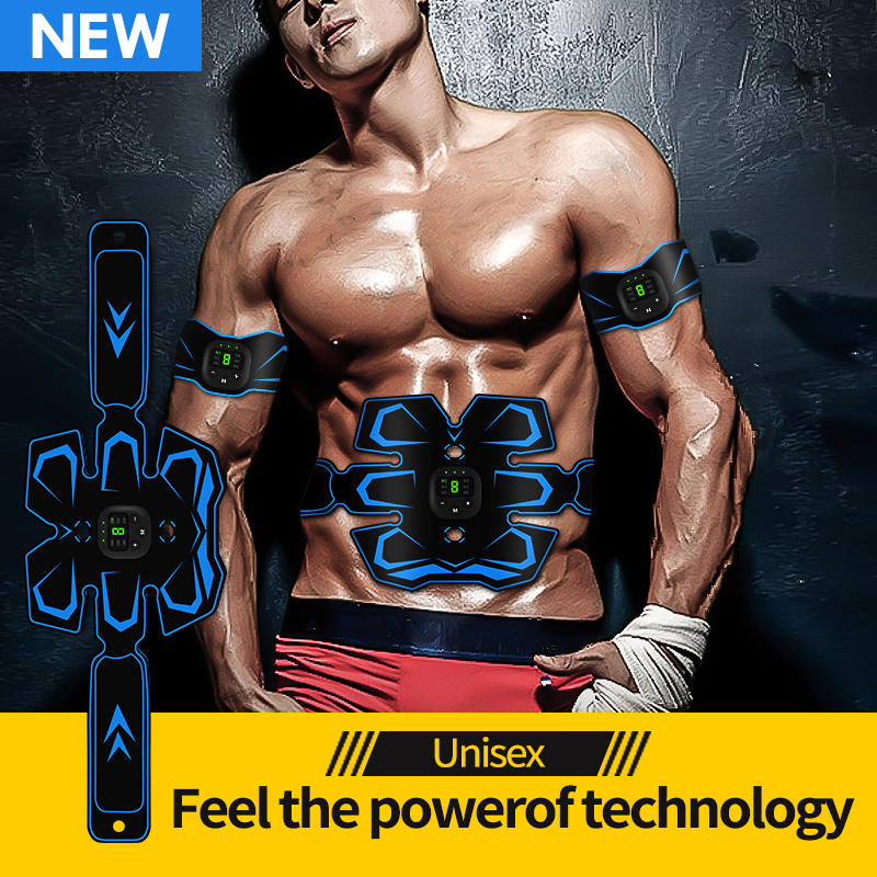 2019 Newest Muscle Stimulator Belt Abdominal Muscle Trainer Waist Muscle Exerciser Belt AB Muscle Trainer Belt for Men/Women image
