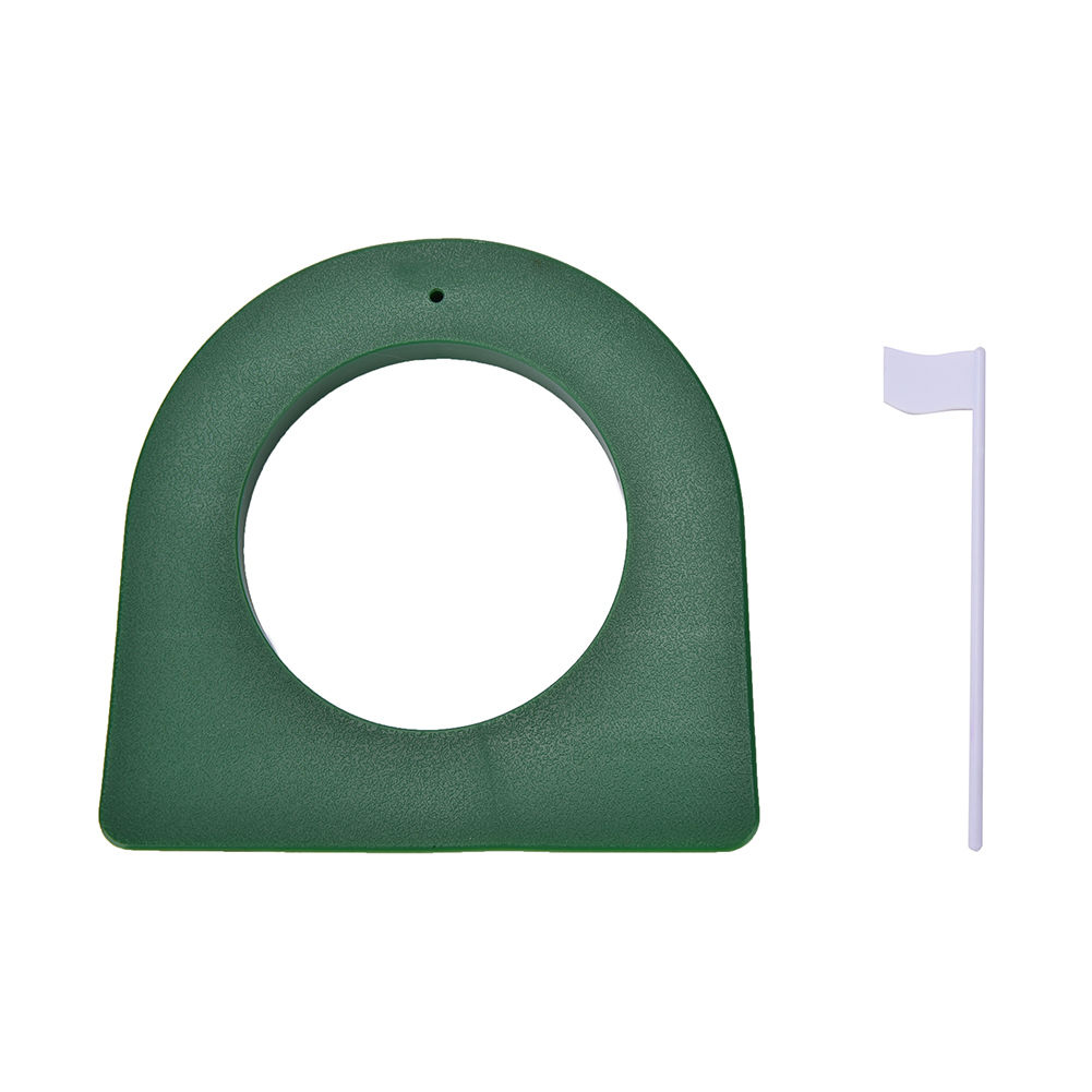 GOLF In/Outdoor Green Plastic Regulation Putting Cup Hole Putter Practice Trainer+ Flag Improve Your Putting Accuracy
