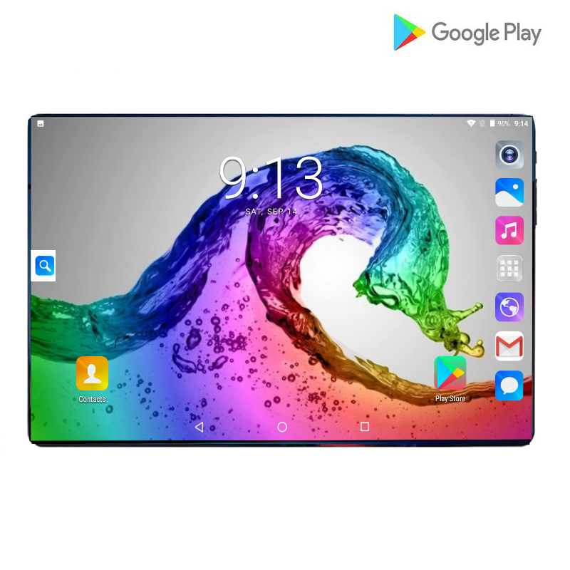 2020 New Design 10 Inch The Tablet Android 9.0 Octa Core 6GB + 128GB ROM Dual Camera 8MP SIM Tablet PC Wifi GPS 4G Lte Phone Pad