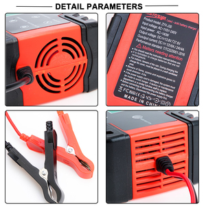 Auto Batterie Ladegerät 12/24V 8A Touchscreen Puls Reparatur LCD Schnelle Power Lade Nass Trocken Blei Säure digital LCD Display
