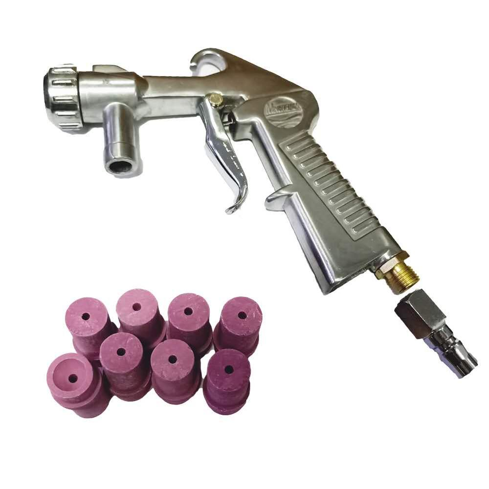 HOLDWIN  Power Tools Siphon Sand Blasting Gun With 8pcs Ceramic Nozzles 3mm Tips Kit Sprayer Gun