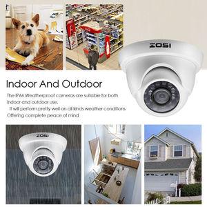 Image 2 - ZOSI 1080P CCTV מצלמה מערכת 4CH 1080P DVR מערכת עם 2x חיצוני 2MP וידאו אבטחת מצלמות 2CH בית מעקב מצלמה קיט
