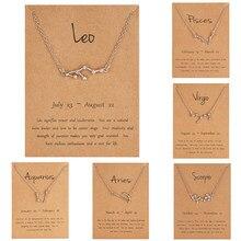 12 oróscopo signo do zodíaco ouro pingente colar áries leo 12 constelações jóias leão aquarius escorpião capricórnio presente de natal
