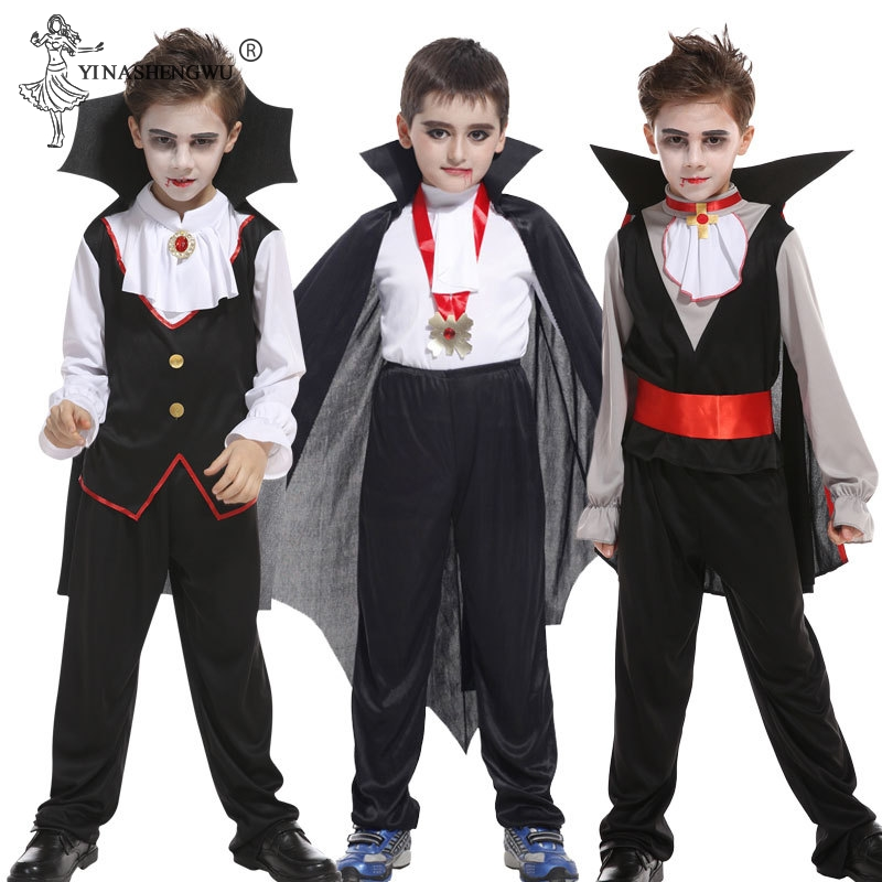 Halloween Costume Carnival Party Kids Children Count Dracula Gothic Vampire Costume Fantasia Prince Vampire Cosplay For Boy