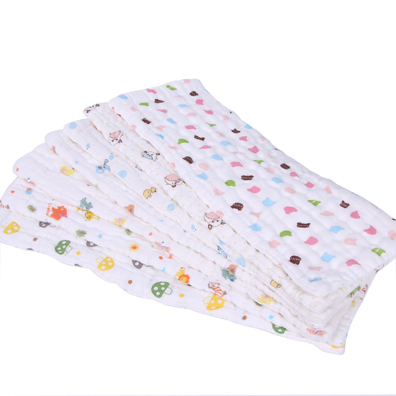 10layers 2PCS Reusable Baby Gauze Diapers Cloth Breathable Diaper Inserts 100% Cotton Infant Washable Care Newborn Products