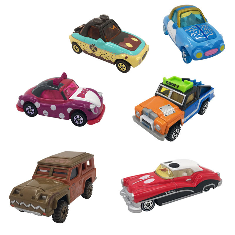 7cm Disney Pixar Cars Lightning McQueen Mickey Minnie Winnie Cinderella Pumpkin Car Diecast Toys Metal Model Car Halloween Gift
