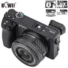 안티 슬라이드 카메라 바디 탄소 섬유 필름 키트 소니 알파 A6500 + SELP1650 16 50mm 렌즈 안티 스크래치 스킨 커버 3M 스티커