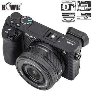 Image 1 - Anti Slide Kamera Körper Carbon Faser Film Kit Für Sony Alpha A6500 + SELP1650 16 50mm Objektiv anti Scratch Haut Abdeckung 3M Aufkleber
