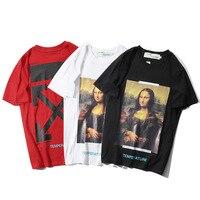 Модная классная футболка с надписью Mona Lisa Arrowhead в западном стиле; Повседневная футболка с короткими рукавами для подростков; сезон весна-лет...
