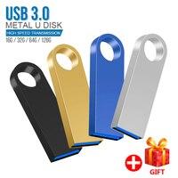 Chiavetta USB Mini in metallo 128 GB 64GB 32GB pendrive Cle chiavetta USB Pen Drive 32 64 chiavetta USB da 128 GB