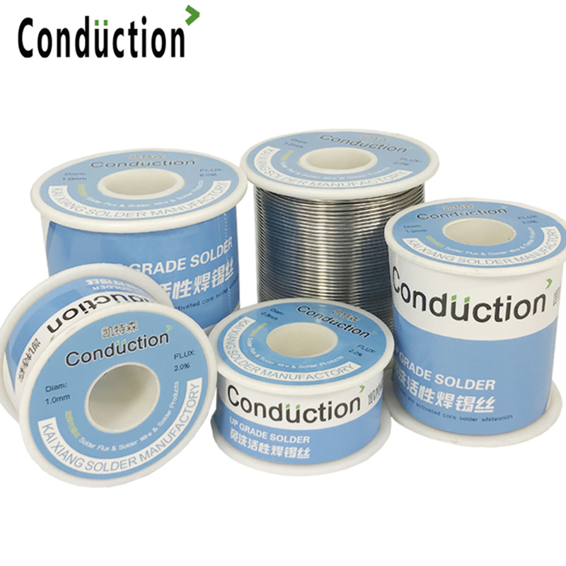 Solder Wire 0.3/0.5/0.8/1.0/1.2/1.5mm FLUX 2.0% 45FT Tin Lead Tin Wire Melt Rosin Core Solder Welding Line Wire Roll50g100g