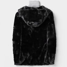 Mens Winter Luxury Real Mink Fur Coat Business Casual Outwear Top Quality Real Fur Hip Hop Furry Overcoat Hoody Jacket Man 4XL(China)