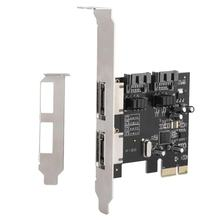 Bureau PCI-E vers SATA3 PCI E SATA3.0 6 Gb/s la carte d'extension de puce SSD Asmedia ASM1061 avec pilote CD pci-express(China)