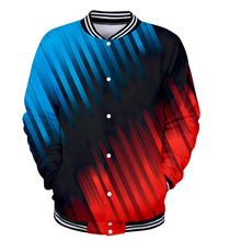 Tracksuit Baseball-Jacket Blue New Men WAMNI Streetwear Patchwork Funny 3D Casual Women