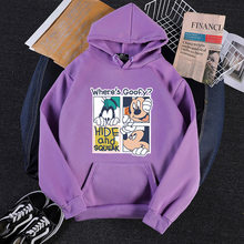 Mode dames casual nieuwe afdrukken cartoon donald duck mickey losse plus fluwelen hooded sweater vrouwen(China)