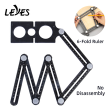 Woodworking Tools Fold Ruler Carpentry Drill Guide Tile Hole Aluminum Measuring Wood Working Carpenter Metal Square Angle Ruler