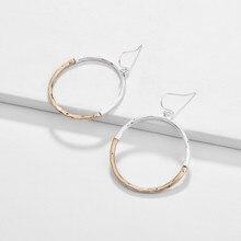 JOOLIM Gold & Silver Round Dangle Earring Drop