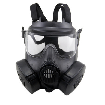 Gas mask For Military Airsoft Shooting Hunting Riding CS Cosplay Full Face Tactical Protective Mask With Exhaust Fan Filters