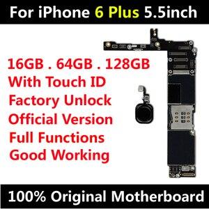 Image 1 - Oryginalna płyta główna dla iPhone 6 Plus 5.5 cala fabryka odblokuj płytę główną z Touch ID IOS aktualizacja wsparcie darmowa wysyłka