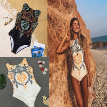 New retro printed bikini swimsuit women's  swimsuit Europe and the United States sexy bikini