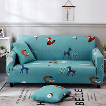 Blue Dustproof cartoon sofa cover Elastic Waterproof Sofa Protector  Soft Renew Restyle Refresh Washable Furniture Cover Slipcovers For living room 1/2/3 seats Home decoration