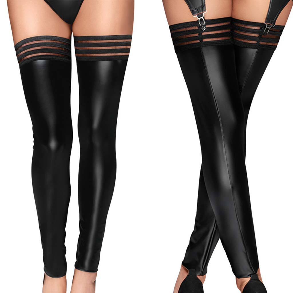 Women's <font><b>Sexy</b></font> <font><b>Lingerie</b></font> PU <font><b>Leather</b></font> Stockings Clubwear <font><b>Sexy</b></font> Underwear <font><b>Babydoll</b></font> Lenceria Mujer Tight Porno Stockings Erotic Costumes image