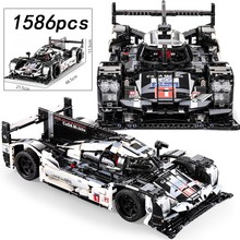 1586 pces super esporte carro velocidade cidade racer veículo rc/não-rc bloco de construção tijolos brinquedos para crianças presente