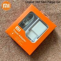 MDY-08-EI Original Xiaomi USB cargador 18W EU adaptador USB 3,0 tipo C Cable de datos para el Mi 5 6 8 9 SE nota 10 Redmi Note 7 8 Pro 9 9T