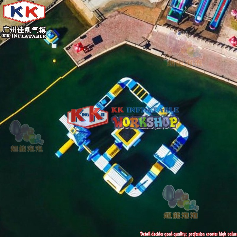 CE Marking 100 Capacity New Inflatable Floating Water Park Games
