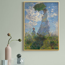 Claude Monet Woman with A Parasol Canvas Paintings on The Wall Art Posters and Prints Cuadros Wall Art Pictures Home Decoration