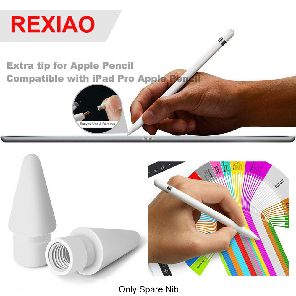 2PCS Electronic Spare Nib Stylus Sensitive Easy Install TouchScreen Tip Replacement Accessories For Apple  Pro Pencil 1 2