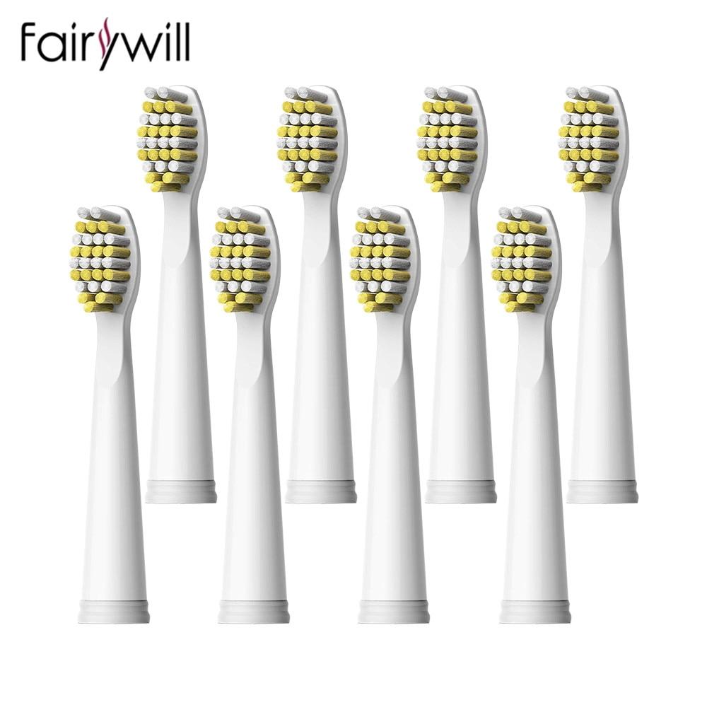 Têtes de Brosse À Dents électrique Sonique Remplaçable Tête De Brosse À Dents À Poils Souples pour Fairywill FW-507 FW-508 FW-917 FW-959 FW-551