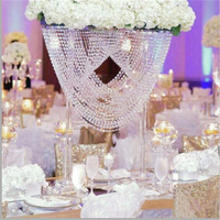 2pcs/lot 80cm tall l acrylic wedding τable centerpiece Acrylic Flower Stand Romantic Road lead Decoration Transparent Cake Tray